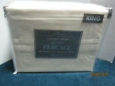 Bed Bath & Beyond 400 Thread Count Ivory Percale Sheet Set Size King