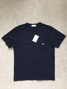 Maison Kitsune Navy Pocket T-Shirt | Size Large | BNWT