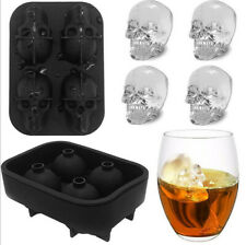 3D Ice Cube Tray Mold Skull Shape Bar Party Silicone Trays Chocolate Mould Gift