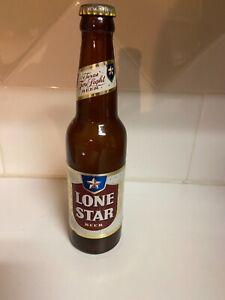 1950s Lone Star White Label Beer Bottle w/ Cap Texas