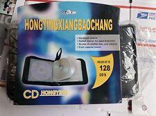 Portable 128 Disc CD DVD Wallet Holder Bag Case Album Organizer CD Media Storage