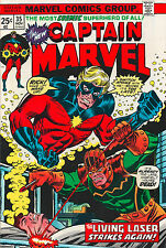 Captain Marvel #35 - Annihilus & Living Laser - (Grade 7.5) 1973