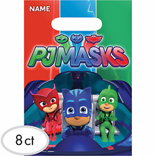 PJ Masks Favor Bags Loot Treat Bags Birthday Party Favor Supplies Pajama Heroes