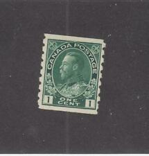 CANADA (MK4651) # 125  VF-MLH  1cts 1912 KGV ADMIRAL COIL /GREEN  CAT VALUE $40