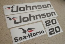 Johnson Sea Horse Outboard Motor Decal Kit 20 HP FREE SHIP + FREE Fish Decal!