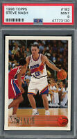 Steve Nash Phoenix Suns 1996 Hoops Basketball Rookie Card RC #21 PSA 9 MINT