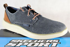 Skechers Men's Trainers Sports Shoes Blue/ Jeans New