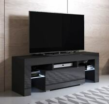 TV Unit Model Elio (130x45cm) Colour Black with RGB LED