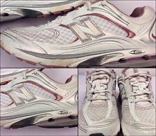 New Balance 1200 Size 10 Womens Running Shoes White Pink Excellent M4U