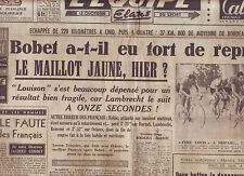 journal  l'équipe  du 06/07/48 CYCLISME TOUR DE FRANCE 1948 BOBET JOLY MARIE