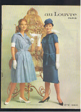 CATALOGUE AU LOUVRE PARIS ETE 1960 mode vetements linge divers