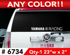 "YAMAHA  Factory Racing R6 R1 LARGE DECAL STICKER 23""w x 2"" ANY 1 COLOR"