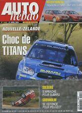 AUTO HEBDO n°1440 du 21 Avril 2004 MEGANE RS 2.0 SEAT LEON CUPRA WRC NZ
