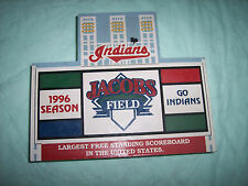 Cleveland Indians StadiumScoreboard ~ Cat's Meow 1995 Wooden Collectible