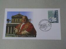 VATICANO 2012 BUSTA ANNULLO spec.50°ann. annuncio CONCILIO ECUMENICO VATICANO II