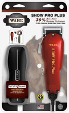 Wahl Horse Dog SHOW PRO PLUS CLIPPERS #30 #15 #10 Oil Bonus Brush 2 YR Warranty!