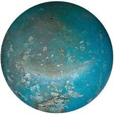 207001 ***16 perles résine TURQUOISE VEINÉE 12mm