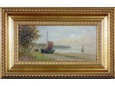 19th Century British School, 'Coastal Scene'. Gallery Provenance. Oil on Board