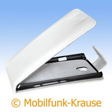 Flip Case Etui Handytasche Tasche Hülle f. Sony LT30 / LT30p (Weiß)
