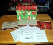 Hallmark Holiday Christmas Recipe Box Unused Recipes Blank Cards Dividers Plaid