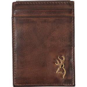 Browning Brass Buck Card Master, Leather  Billfold Wallet