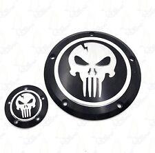 For Harley Dyna Sportster Street Bob  XL 883 1200 Skull Derby & Timer Cover