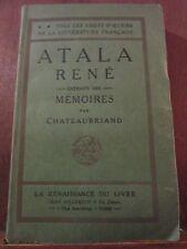 Chateaubriand: Atala-René/ La Renaissance du Livre, non daté