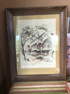 """""""The Raleigh Tavern"""" Signed by John Haymson, Framed Watercolor Print"""