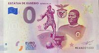 BILLET 0  EURO ESTATUA DE EUSEBIO   PORTUGAL 2018  NUMERO 1000