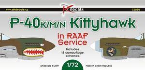 1/72 DK Decals 72050; Curtiss P-40K/M/N Kittyhawk / Warhawk in RAAF Service