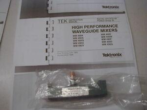 WMX9 Tektronix 18-26 GHz W/G Mixer for 492 & later Spec Ans. w/ Book copy NOS