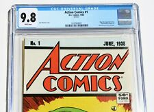 CGC 9.8 ACTION COMICS #1 REPRINT * Siegel & Shuster * 1988 * DC * White Pages