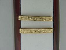 PAIR OF VINTAGE ART DECO 14K YELLOW GOLD LINGERIE CLIPS