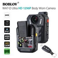 """BOBLOV WA7-D Ultra HD 1296P 64GB 2.0"""" Body Worn Camera Recorder 170°FOV Portable"""