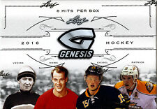 2016 Leaf GENESIS Hockey Sealed HOBBY BOX (8 Auto or Memorabilia per box!)