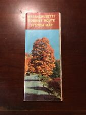1958 -1959 Official Massachusetts Tourist Route System Map MA Vintage State