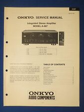 ONKYO A-807 INTEGRATED AMP SERVICE MANUAL FACTORY ORIGINAL ISSUE THE REAL THING