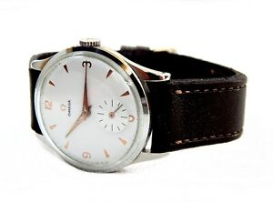 Vintage Watch OMEGA Ref. 2181/4 Caliber 30T2 PC Steel Working 1950c Men 38mm