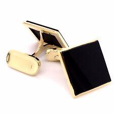 Manschettenknöpfe Onix Gold Onyx goldene Gelbgold  Herren Herrenschmuck vad