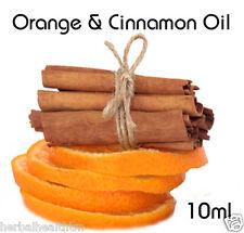 100% PURO OLIO D'ARANCIA & CANNELLA 10ml per aromaterapia, massaggio, più economico su ebay