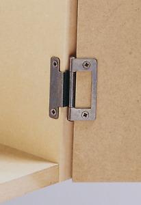 Hafele Cranked Flush cupboard wardrobes door Hinges 15-19mm Zinc Silver