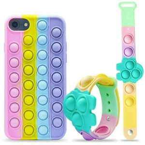 Poppets Push Bubble Toys Stress Relief Phone Case For iPhone 6S 7 8 SE20 11 12