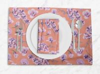 S4Sassy Orchid Floral Placemats & Napkins Table Decor Mats-FL-849I
