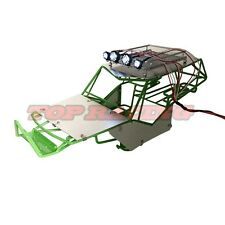 RC 1/10 AXIAL WRAITH METAL FRAME BODY ROLL CAGE W/ ROOF RACK AND SHEETS GREEN
