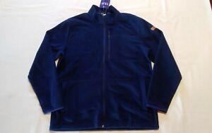 Huk Performance Fishing  Channel Fleece Jacket  Medium  Full Zip  Blue  NWT$100