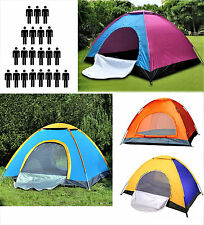 3 / 4 / 6 / 8 Camping Tent Waterproof Room Outdoor Hiking Backpack Fishing