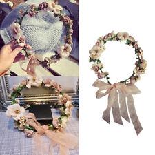 Women Bride Wedding Flower Hairband Headband Boho Floral Crown Garland Beach US