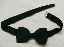 Bow Tie MENS Dickie Bowtie VINTAGE RETRO Traditional Buckle BLACK 1950s 1960s