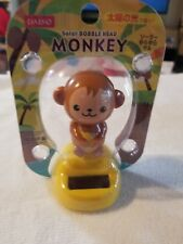 Solar Power Bobble Head cute Japanese Monkey Banana Bobblehead Daiso Usa seller