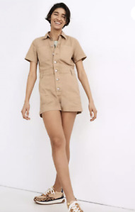 Madewell Women's $138 Garment Dyed Relaxed Coverall Romper Size XS MC980